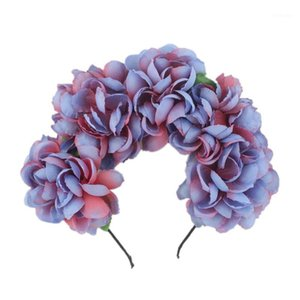 Party Dress Supplies Floral Wreath Plastic Cloth Flower Lei Headband Birthday Party Decoration Game Festive wieniec na drzwi#A1