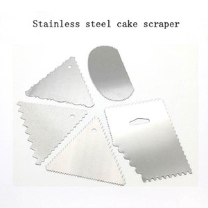 5 stücke / set metallteig icing fondant schaber kuchen dekorieren backen bäckerei tools plain rand spatulas cute küche zubehör