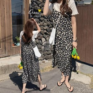 new S XL Spring summer 2 piece suit Sleeveless black Vintage Women Dresses Female Girls Dress suits V neck Robe Femme Vestido
