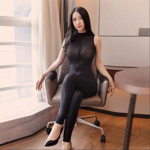 섹시한 여성 레이스 패치 워크 Bodysuit Bodysuit 섹시한 꽉 댄스 무대 댄스 착용 에로틱 한 leotard F27