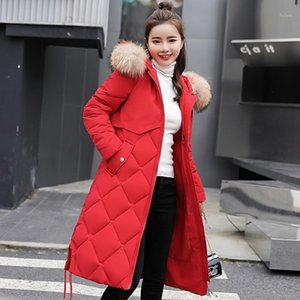 2019 Jacket Women Winter Female Long Jacket Fur Collar Winter Coat Women Plus Size 3XL Parka Warm Down Coat NW22841