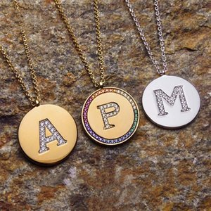 925 Sterling Silver Rainbow Necklace Female Custom Letter Lettering Couple Clavicle Chain 520 Gift Pendant Gift Monaco Jewelry 201124