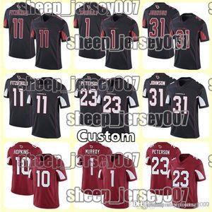 Men 1 Kyler Murray ArizonaCardinal Jersey 11 Larry Fitzgerald 31 David Johnson 23 Adrian Peterson stitching High Jerseys