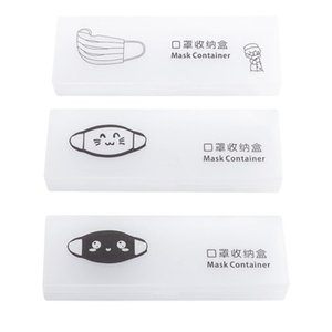 Plastic Mask Contain Box Portable Pocket Face Covering Storage Box Reusable Folder With Lids Storage Masks Storage Case Cover yxlQPG