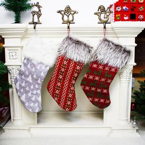 Christmas Decorations Stocking Sack Xmas Gift Candy Bag Year For Tree Decor Home Natal Navidad Sock