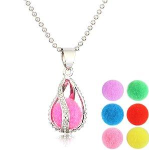 Partido Jewlry Oil Colar medalhão Aromaterapia Essencial Pingente DIY espiral Difusor colar de pingente de For Women moda Gift LSK1639