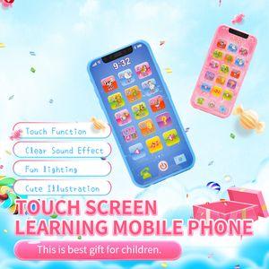 Bambini simulazione telefono mobile dei bambini della ragazza del ragazzo del giocattolo del bambino dello schermo mini machine learning tocco di puzzle oltre 3 anni