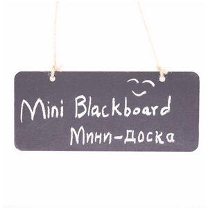 Colgando Mini Blackboard de madera Pizarra de doble cara Borreable Pizarra WordPad Sign Sign Black Board Cafe Office Suplementos de escuela DHF4057