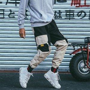 April Momo Foot Fit Cintura Elástica Street Tobillo Bandidos grandes Bolsillos Casual Fashion Cargo Pantalones 201110