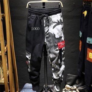 2020 Color Camo Cargo Pant Mens Baggy Cotton Trousers Hip Hop Harem Casual Hiphop High Fashion Street Male Streetwear Jogger