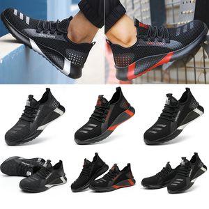 Новые Антисезонные Безопасные Обувь Летающие Дышащие Обувь Безопасная Обувь Нескользящая Дезодорант Мужской Рабочий кроссовки Лето Защитный кроссовки