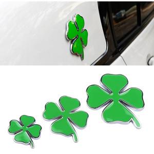 1pcs Badge jour Trèfle vert pour Alfa Romeo Trèfle à quatre feuilles en métal Chrom Car Styling Emblem Sticker amour Healty chanceux Symbole