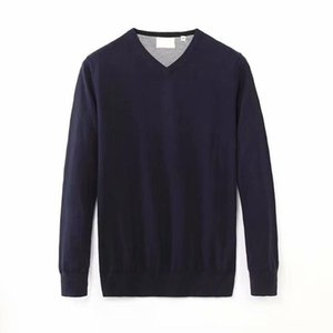 men V-neck cotton sweater autumn winter jersey Jumper hombre pull homme hiver pullover men Knitted sweaters
