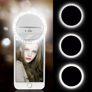 USB Charge Mobile Lens Led Lamp Ring iPhone for Samsung Xiaomi Phone Selfie Light