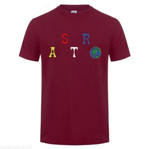 Männliche Hip Hop Sommer-T-Shirt Travis Scott Astroworld Buchstabe-Druck-Frauen-beiläufige Fashion Wear Tees Herren-Oberteile T-Shirt