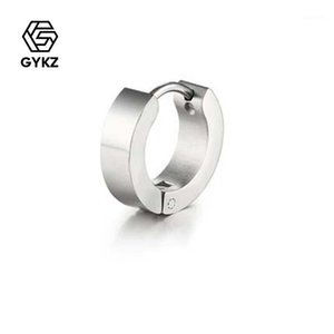 Gykz Silver Color Pendientes Regalos para las mujeres Navidad Año Nuevo Regalo Accesorios para mujer Accesorios Pendientes de aro Citas / Aniversario / Party1
