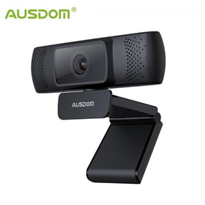AUSDOM AF640 웹 카메라 Full HD 1080P 비디오 컨퍼런스 웹캠을위한 PC1 용 마이크로폰 용 자동 초점