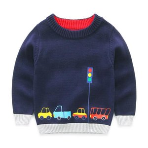 Boys Cotton Sweaters,Kids O-Neck Winter Clothes,Children Car Printed Casual Outerwear Children's clothing designer