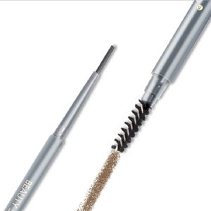 Makeup Eyebrow Pencil Enhancers Free Cutting Automatically Spiral Skinny Brow Pencil Gold Double Ended with Eyebrow Brush