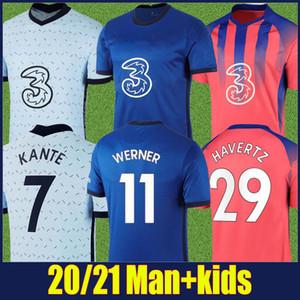 2020 2021 Emekliler forması ev mavi gömlek 3 Kırmızı mavi çizgili forma yetişkin erkek çocukları Hıristiyan Kai Timo futbol gömlek 20/21 kiti