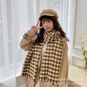 Plaid Scarf for Women in Autumn and Winter