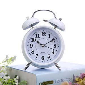 4-inch Metal Bell with Light Mute Alarm Individual Creativity Multi-function Bedside Table Clock for Students