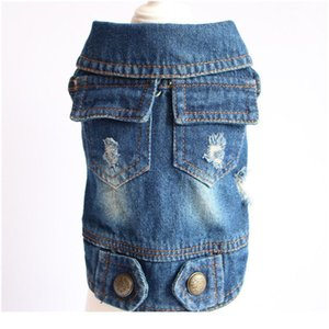 Water Wash Old Jean Small Dog Clothes Puppy Dog Jacket Vest Cowboy Pet Coat Double Pocket Clothing For Small Med bbyPBd