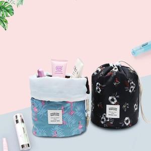 Sacs de maquillage Barrel kit en forme de cosmétiques Sac à cordonnet Maquillage Organisateur Voyage Corée du stockage Sacs de toilette Tendance 9 couleurs LXL1210DXP