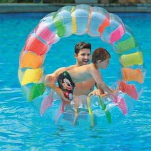 Надувные роликовые бассейн остаются на дому надувной водного колеса ролика поплавок многофункциональный водный колесо игрушка для детей1