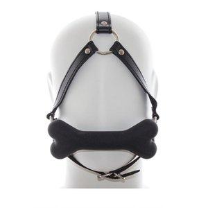 Gag Verkauf Pferd Maske Open Mouth Hot For Bdsm Hundeknochen Adult Gag Sex Silikon-Geschlechts-Gag Schwarz / rot / pink Toys Mund Paare Y19052902 Hvwx