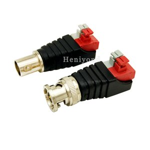 10Pairs lot Coax CAT5 To Camera CCTV BNC UTP Video Balun Connector Female Adapter BNC Male Plug Accessories For CCTV Camera