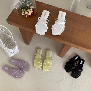 Toppies Kadınlar yazlık sandaletler kadınlar düz ayakkabılar Kroean moda rahat lastik ayakkabı 1020