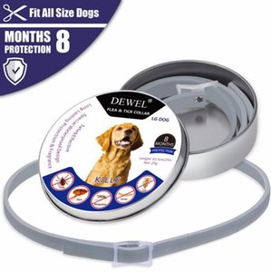 Anti -Insect Dog Collar Adjustable Anti Flea Mite Acari Mosquitoes Pet Collar Solid Color Dogs Neck Straps Pet Supplies Health Caring Cls273