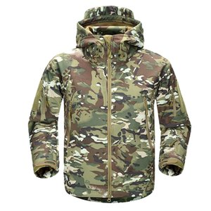 Men's Winter Military Camouflage Fleece Jacket Army Tactical Jacket Coat Multicam Male Camouflage Waterproof Windbreakers 201111