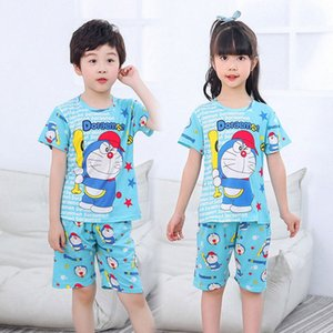 Yaz Çocuk Pijama Erkek pijamalar Pijama Çocuk Pijama Suit Bebek Kız Giyim Küçük Gençler kısa kollu Kızlar pijama j8pj # ayarlar