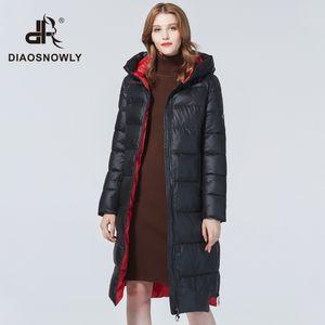 Diaosnowly 2020 новые толстые куртки с капюшоном верхней одежды пальто для женщин нагреться долго Parka моды зимней одежды