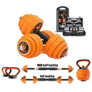 Ensemble d'haltère réglable Kettlebell Muscle exercice Barbell Poids de levage Gym Fitness Equipment Equipement en ligne Shopping Trois options