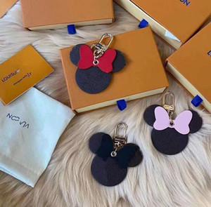 DHL HOT sell Designer Key Chain Keychain mouse Fashion Cute Key Ring Holder Wallet Women Bag Charm Keyring Llavero Gifts High Quality