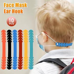 10pc Kids Anti-slip Extension Clasp Hook For Masks Elastic Adjustment Belt Adjustable Mask Ropes Hanging Buckle Hooks