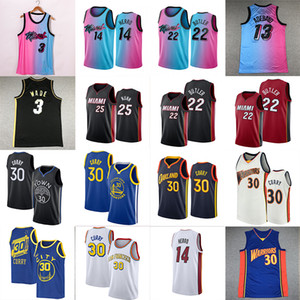 NCAA STEPHEN 30 Curry Jersey Jersey Jimmy 22 Butler Dwyane 3 Wade Tyler 14 Herro Kendrick 25 Nunn Men Basketball майки