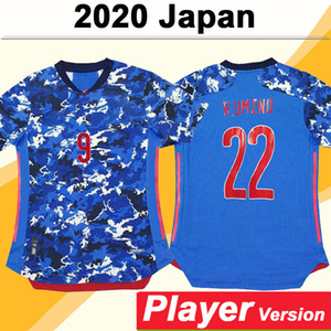 2020 Giappone National Team Okazaki Kagawa Leader Version Mens Soccer Jerseys Home Blue Football Camicie Nuova Honda Hasebe Nagatomo Uniformi