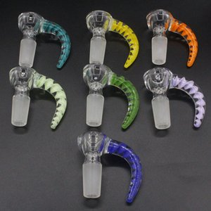 glass bowl 14mm Male Joint Handle Beautiful Slide bowl smoking Accessories For Bongs Water Pipes