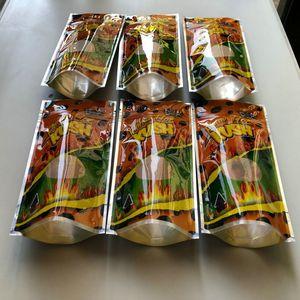 Flamin Hot Kush Resealable vazios Mylar Sacos para crianças Sf Califórnia 3.5-7g Mylar sacos wmtphv bdesybag