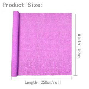 25050 cm Renkli krep kağıt rulo origami kırışık krep kağıt zanaat DIY çiçekler dekorasyon hediye ambalaj kağıt zanaat jlldoi lucky2005