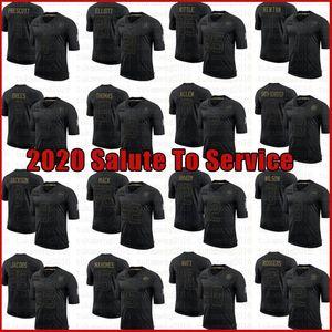 8 Lamar Jackson George Kittle Halil Mack Jersey 2020 Salute To Servis Aaron Rodgers Jones CeeDee Kuzu Ezekiel Elliott Juju Smith-Schuster