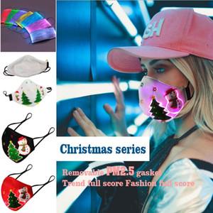 قناع عيد الميلاد متوهجة مع PM2.5 مرشح 7 ألوان أدى أقنعة مضيئة للمهرجان حفلة تنكر الهذيان قناع هالوين مصمم قناع الوجه