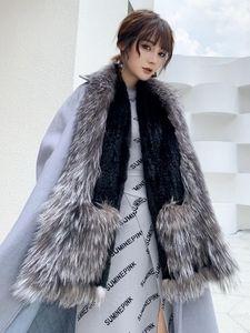 Mink series Silver fur scarf scarf women's winter new style fur Size:170*22cm