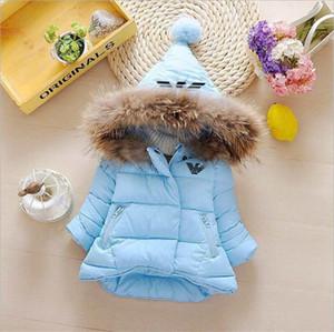 AMN Marka Logosu Çocuklar Tasarımcı Coat Boys Çocuklar Kabanlar Boy ve Kız Kış Sıcak kalın Coat Çocuk Pamuk Palto Kid Palto