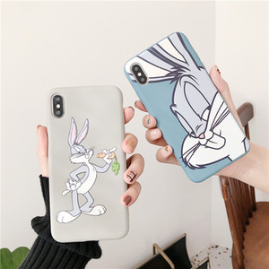 Bugs Bunny Rabbit Case for iPhone 7 8 Plus 6 6s Cases Liquid Silicone Soft Cover for iPhone X Xs 11 Pro Max XR Coque Funda