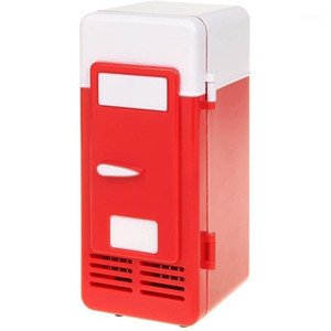 Автомобильный холодильник мини красный USB холодильник холодильник напиток банки / теплые для ноутбука PC компьютер1